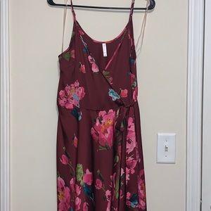 Floral print, wrap dress